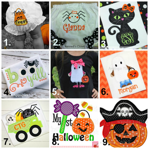 Halloween Applique Collage