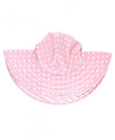 RB Light Pink Dots Reversible Swimming Hat