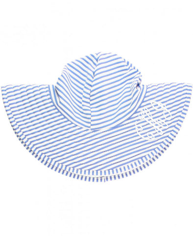 RB Periwinkle Seersucker Reversible Swimming Hat