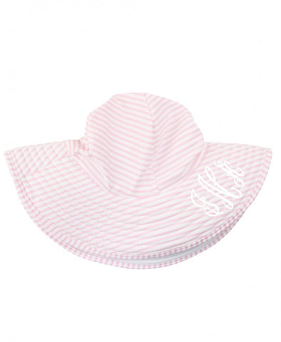 RB Light Pink Seersucker Swimming Hat