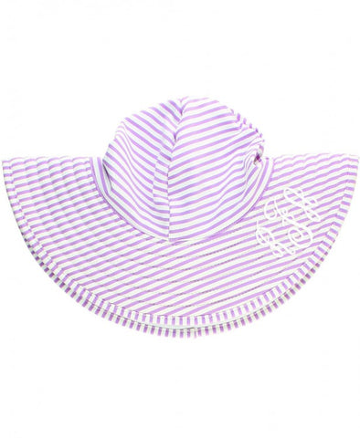 RB Lilac Seersucker Reversible Swimming Hat