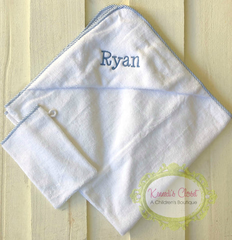 Hooded Towel Monogrammed- multiple colors