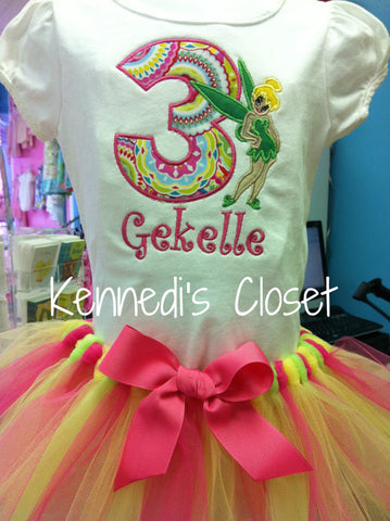 Tinker bell Birthday TuTu Set