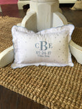 Scallop Baby Pillow Monogram