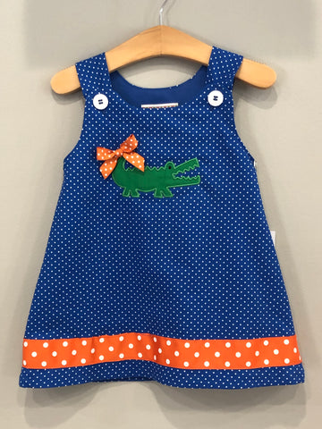 Gator Game Day Dress dots