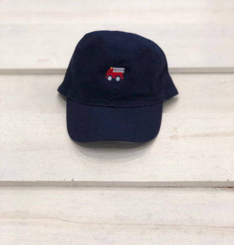 Navy fire truck Hat Kids