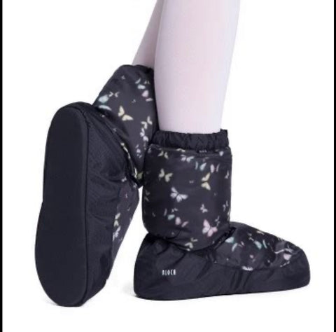 Warm Up Booties Bloch printed Butterfly