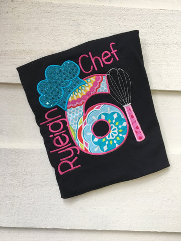 Chef Cooking Birthday Shirt