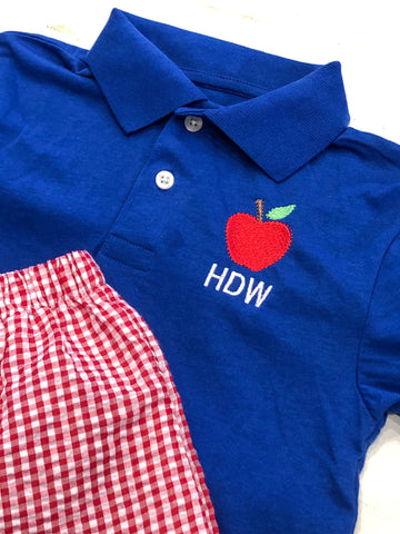 Apple Monogram Polo