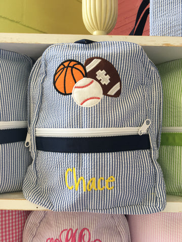 Sports Seersucker Backpack