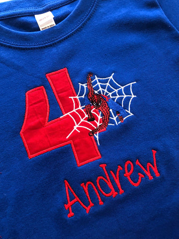 Spiderman Birthday Shirt