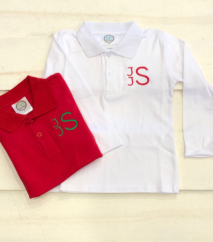 Monogrammed Polo long sleeve