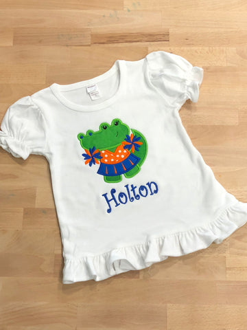 Gator Cheerleader Ruffle Shirt