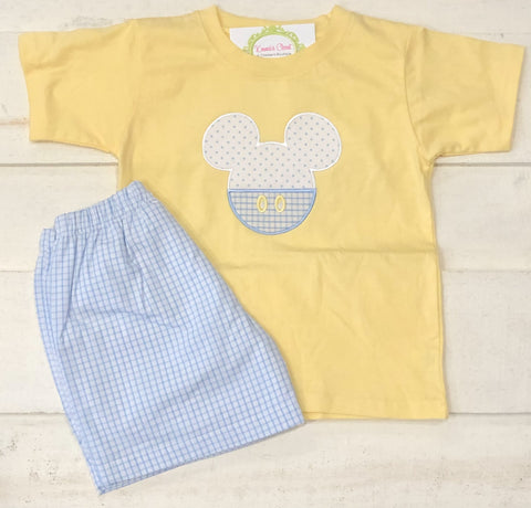 Mickey Pant Pastel Short Set