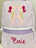 Ballet Shoes Seersucker Backpack