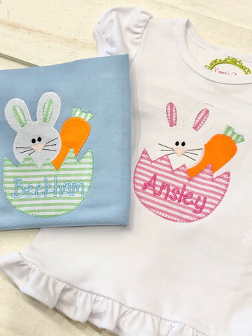 Carrot Bunny Egg Design