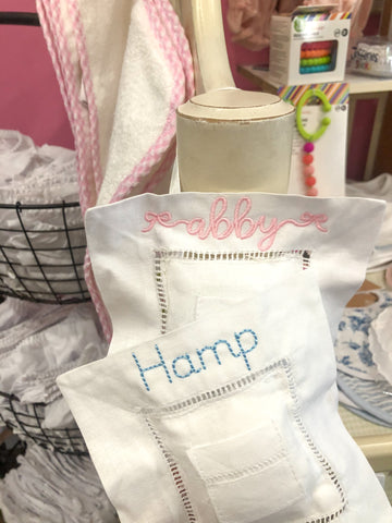 Linen Tooth Fairy Pillow- available in pink and blue