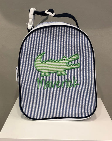 Alligator Seersucker Lunchbox