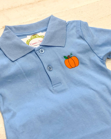 Pumpkin Monogram Polo