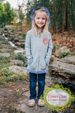 Girls Grey with PinkRuffle Jacket