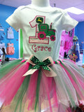 Tractor Deere Birthday TuTu Set