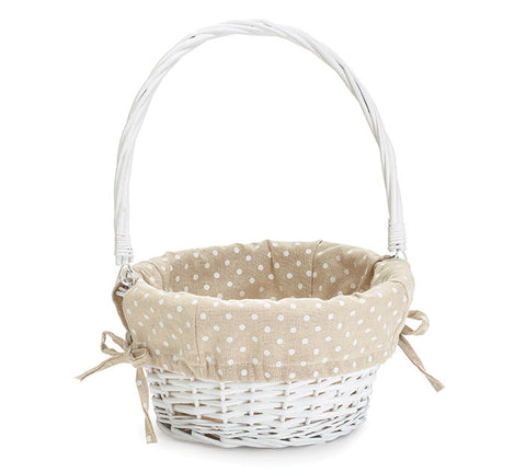 Easter Basket Khaki dots