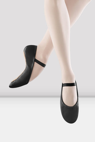Youth/Ladies Black Dansoft Leather Ballet Shoes by BLOCH
