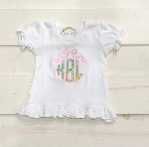 Lilly Bow Monogram Ruffle