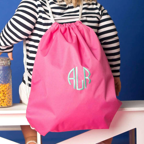 Monogrammed Kids Gym Bag Drawstring