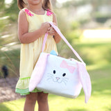 Blue Bunny Plush Easter Bucket