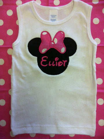 Minnie Pink Bow Style Shirt
