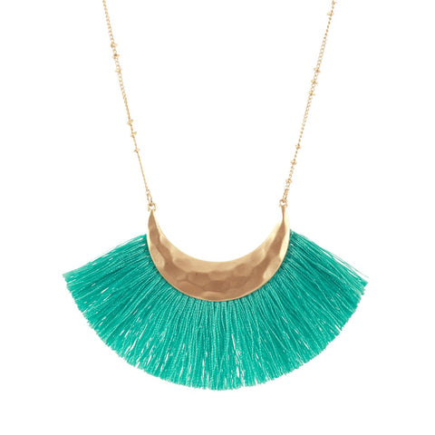 Mint Fringe Necklace