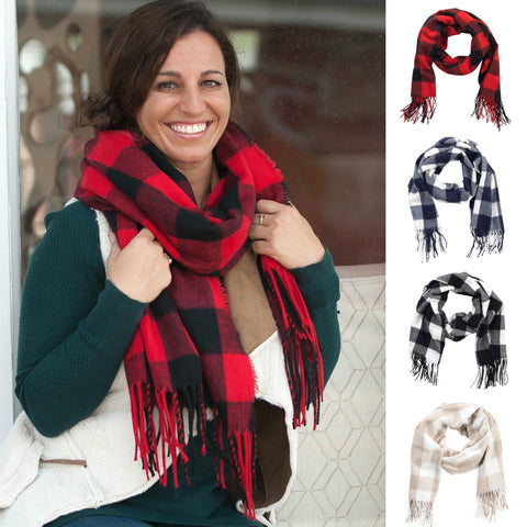 Personalized Buffalo Check Plaid Scarf