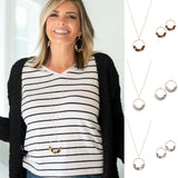 Animal Print Long Necklace and Earrings