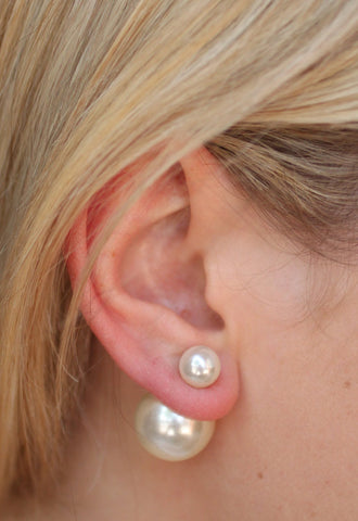 Peek A Boo Pearl Earrings