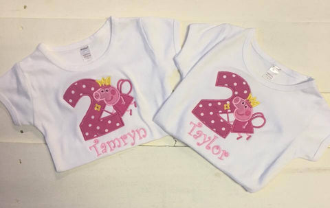 Peppa Pig Birthday Shirt Kennedis Closet