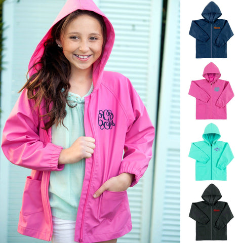 Personalized Kids Rain Jacket