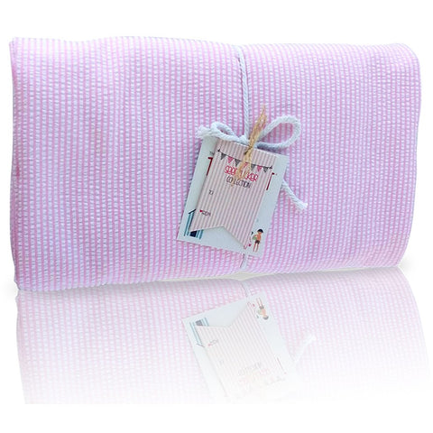 Seersucker Pink Towel Blanket- Palm Beach Crew