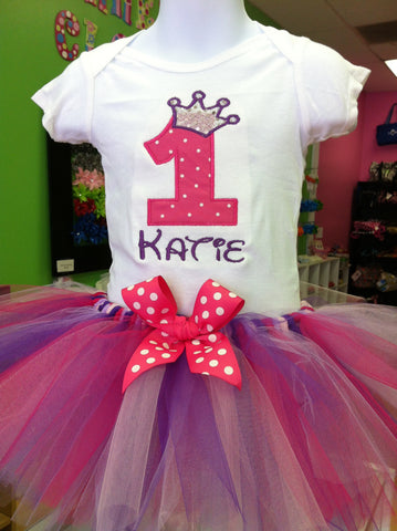 Princess Tiara Birthday TuTu Set