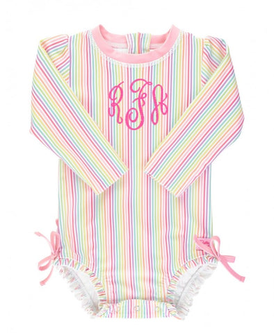 RB Rainbow Stripe One Piece Rash Guard