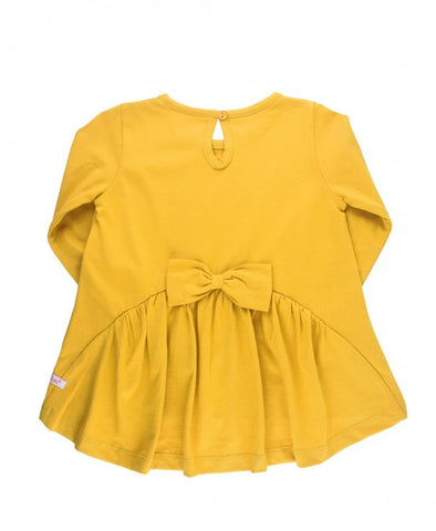 Golden Bow Ruffle Top