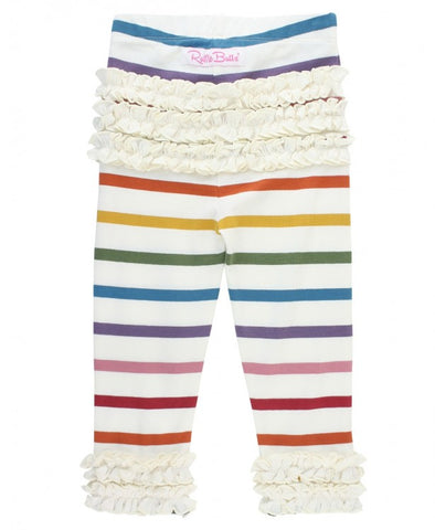Harvest Rainbow Stripe Ruffle Leggings