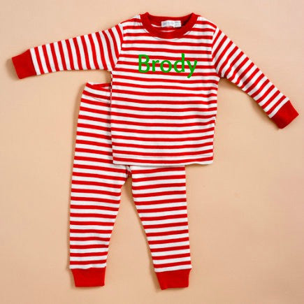 Red and White Stripe Pajamas