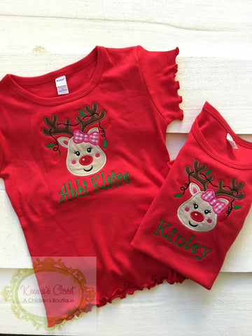 Reindeer Girl Ornament Shirt
