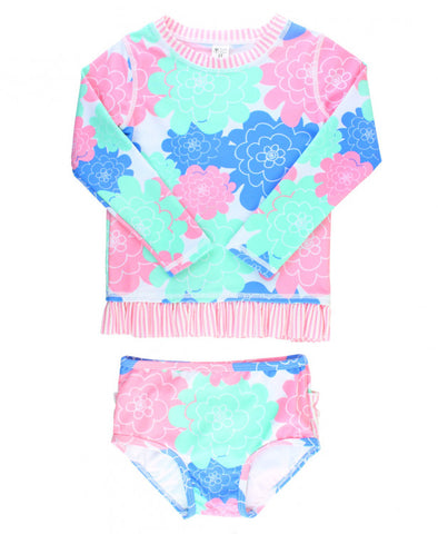RB Pastel Petals Long Sleeve Rash Guard