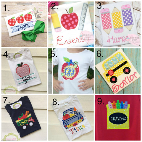 Back to School Applique Collage