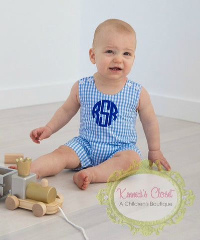 Blue Gingham Shortall