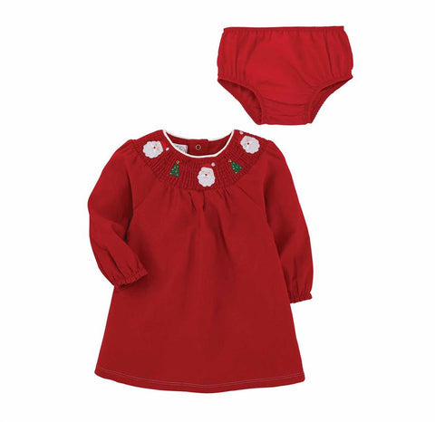 Smocked Christmas Santa Dress