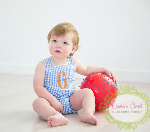Blue Gingham Sunsuit
