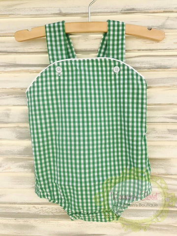 Green Gingham Sunsuit